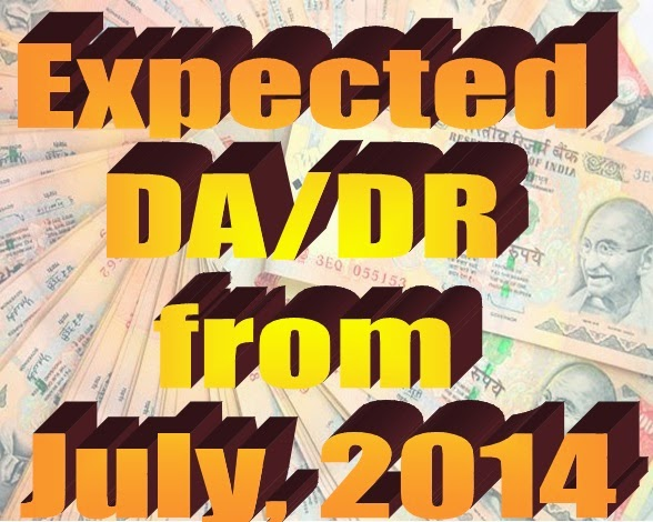 Expected DA from July 2014: AICPIN for April 2014