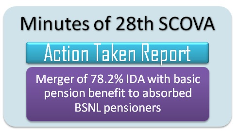 Merger of 78.2% IDA with basic pension benefit to absorbed BSNL pensioners: ATR 28th SCOVA
