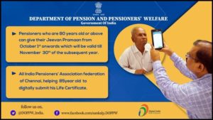 how to submit pensioners life certificate online
