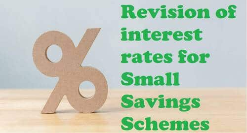 Interest rates for Small Savings Schemes 4th quarter of 2020-21 from 1st Jan, 2021 to 31st Mar 2021
