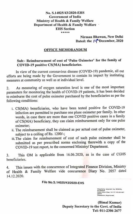 reimbursement-of-cost-of-pulse-oximeter-for-the-family-of-covid-19-positive-csma-beneficiaries