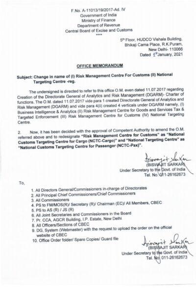 change-in-name-of-i-risk-management-centre-for-customs-ii-national-targeting-centre-cbdt-om-dt-4th-january-2021