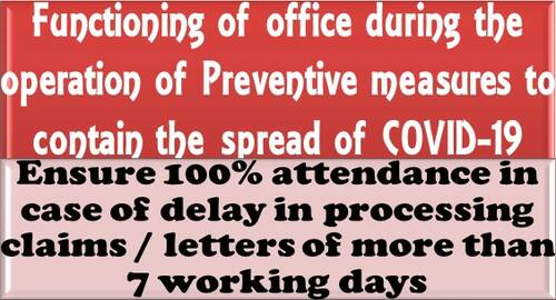 Ensure 100% attendance in case of delay in processing claims / letters of more than 7 working days