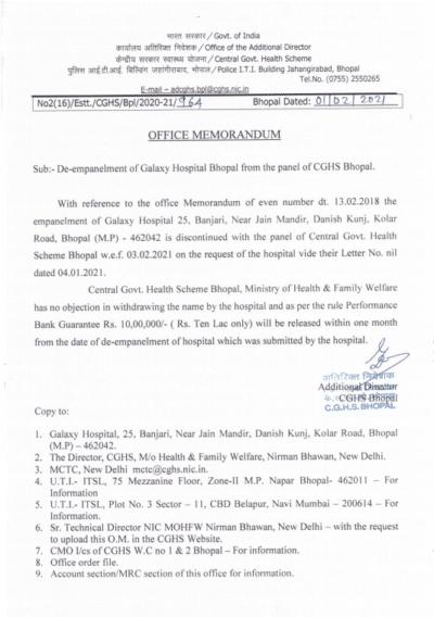 cghs-bhopal-de-empanelment-of-galaxy-hospital-bhopal-from-the-panel