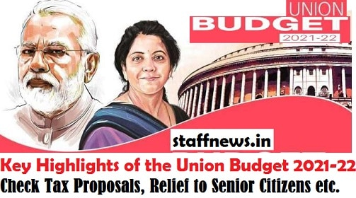 Key Highlights of the Union Budget 2021-22: Check Tax Proposals, Relief to Senior Citizens etc.