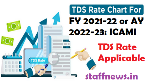 TDS Rate Applicable for FY 2021-22 or AY 2022-23: ICAMI