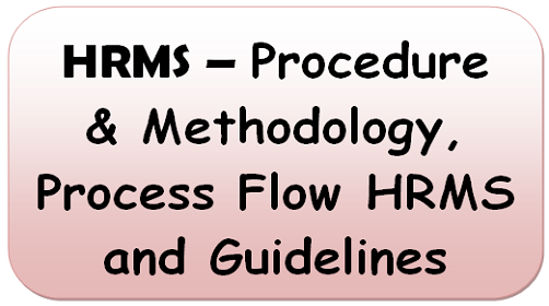 HRMS – Procedure & Methodology, Process Flow HRMS and Guidelines