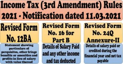 income-tax-3rd-amendment-rules-2021-revised-form