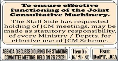 ensure-effective-functioning-of-the-joint-consultative-machinery