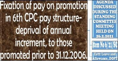 fixation-of-pay-on-promotion-in-6th-cpc-pay-structure-deprival-of-annual-increment