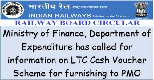 LTC Cash Voucher Scheme – Furnishing information regarding number of employees opted for Special Cash Package: Railway Board