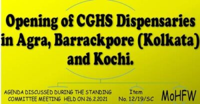 opening-of-cghs-dispensaries-in-agra-barrackpore-kolkata-and-kochi