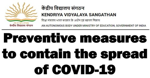 Preventive measures to contain the spread of COVID-19: KVS orders that Assistant Commissioner and above to attend office on regular basis and others on alternate day