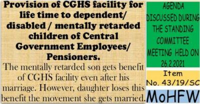 provision-of-cghs-facility-for-life-time-to-dependent-disabled-mentally-retarded-children
